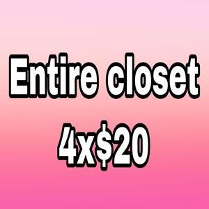 Bundle 4 for $20 entire closet to choose from